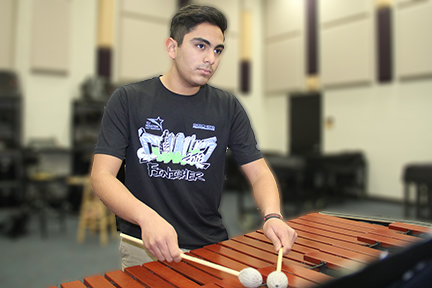 Placing third in the class 6A division at the Texas Music Educators Association's state competition junior Joshua Chavez, represented the district as the only percussionist from Cy-Fair ISD to advance on to state level.