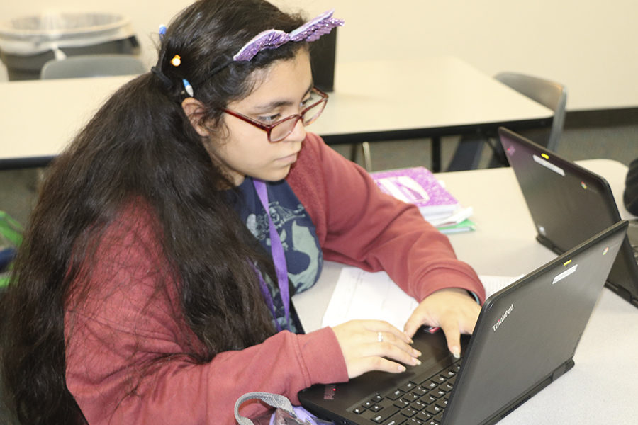 Marisa Aviles, freshman, volunteered for a week at her former elementary, Gleason Elementary, when one of her mother's coworkers, Mary Davis requested her assistance. She assisted with odd jobs and errands, which ranged from placing important papers in envelopes for the children's parents to distributing mail and supplies to the teachers.