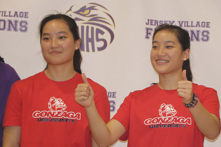 Kayleigh Truong  and Kaylynne Truong, signed with the University of Gonzaga to play basketball. Both were instrumental in the team's playoff season last year.