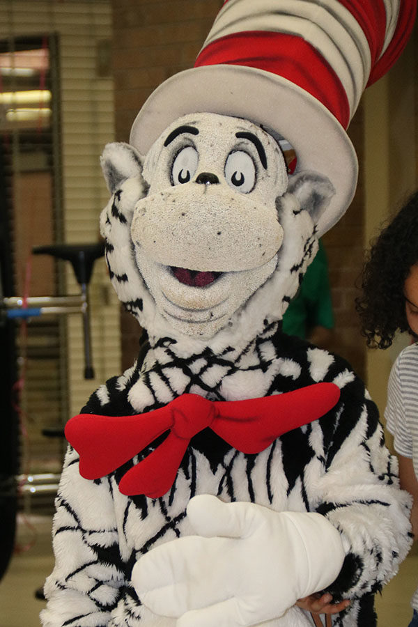 The Cat in the Hat was one character that roamed the school interacting with the children and adults at the Bookworm Festival.