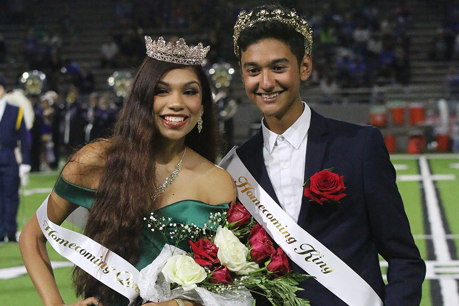 Seniors+Ariana+Alaniz+and+Cesar+Pena+were+crowned+Queen+and+King+for+the+school%E2%80%99s+2019+Homecoming+celebrations.+As+has+been+done+for+many+years%2C+the+school%E2%80%99s+senior+class+nominated+the+members+of+the+court.+Beginning+a+weeks+long+campaign%2C+that+included+the+candidates+making+posters+and+handing+out+candy%2C+to+encourage+students+to+vote+for+them.+The+title+of+Homecoming+King+and+Queen+gives+the+recipients+the+role+of+representing+the+student+body+in+its+homecoming+celebrations+and+boost+the+spirit+of+the+students.+%0A%0A%0A