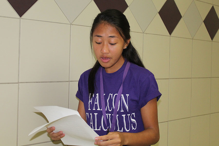 """With sheet music in hand, Madeline Mariano, senior, releases a pleasant rendition of a section from Chandelier, by Sia Furler and Jesse Shatkin. As vice president of Music Club, she struggled alongside her fellow officers throughout the process and its accompanying difficulties. """"Although we started the process of creating a club earlier in the month of May, we were rejected as a club because we didn't provide enough specific information and details of our goals and opportunities. The process of being approved took way longer than expected, however, we were able to get the club approved in the end,"""" Christina Duong, senior and secretary of Music Club, said."""
