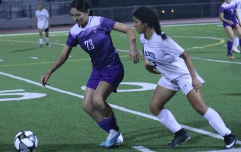 After long after school practices and determination, Sofia Avila, sophomore makes a goal finishing the game against the Cy Ridge Ram, 4-1.