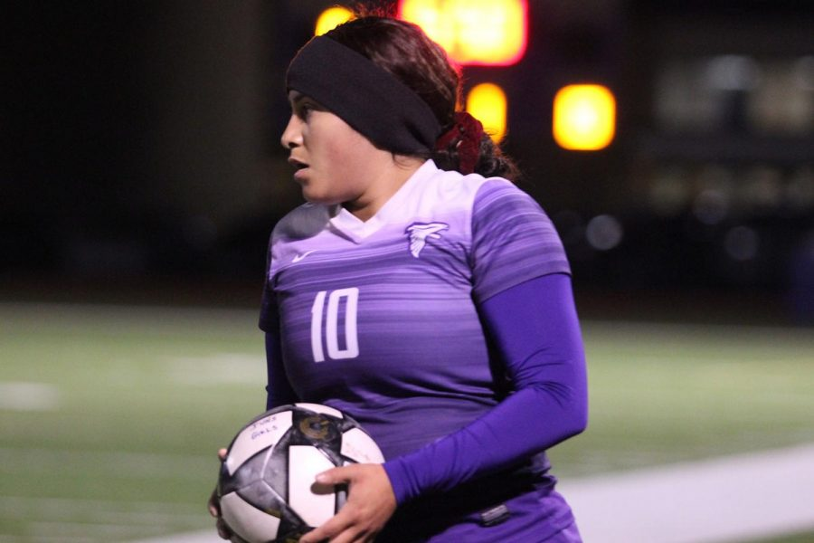 """With excitement, the girls end the night with a win against Northbrook, with a score of 2-0.  """"I always get a little nervous before a game, but our coach tells us we have to leave that on the sideline because once we're in the game we had to go in with our all, especially when you know there's people watching you. That motivates me to do better every time,"""" Yancy Sorto, senior, said."""