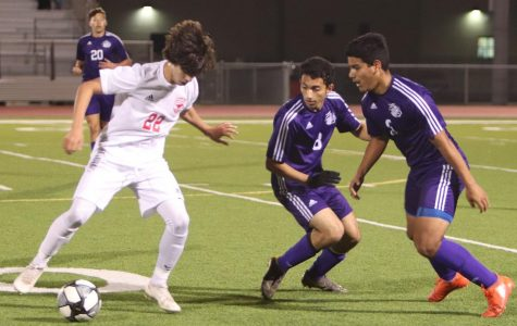 Putting up a hard fight against Memorial High School, the boys give it their all ending the night with a 1-1 draw.