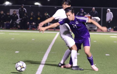 With the want to come up on the scoreboard, Avelino Gutierrez, senior, focuses on the game even harder and puts more force and power in his kicks after the first half ends 2-0.